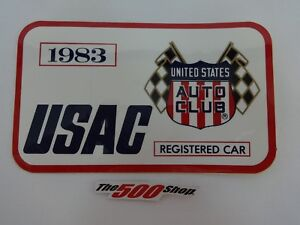 1983 Indianapolis 500 USAC Registered Race Car Decal