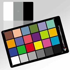 Tarjeta de color gris de balance de blancos: (6X4) con tarjeta de enfoque 3x2 de cortesía