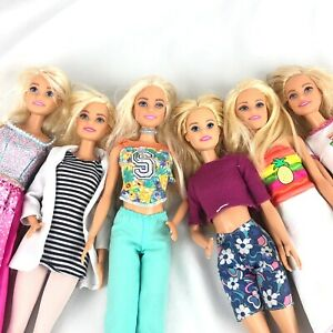 Barbie Doll Lot Of 6 Dressed Millie Blonde Fashionistas for ooak or play