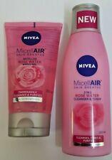 Nivea MicellAIR Rose Water Wash Gel (150 ml) + Cleanser & Toner (200 ml)