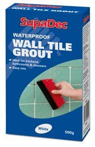 SupaDec DIY Kitchen Bathroom Shower Waterproof Wall Tile Grout 500g - White