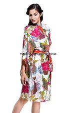 Cotton Floral Robe women bride robe Dressing Gown Bride Wedding kimono robe