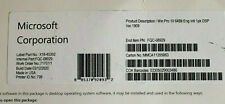 Microsoft Windows 10 Pro 64 bit DVD + Product Key Sticker OEM Brand New Sealed