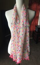 Funky Cool Scarf Flair Has Triangle Pattern Pink Gray Yellow