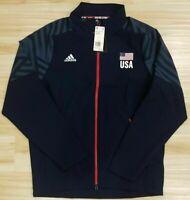 Mens Adidas USA Volleyball Warm Up Jacket Blue DT7915 Sz L NWT $100