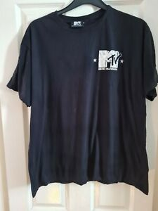 Mtv Music Mens Black T Shirt Size XL