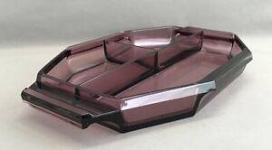 Art Deco Amethyst-Glas Hors d'Oeuvre oder Vorspeisen Tablett