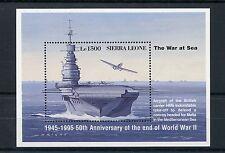SIERRA LEONE 1995 Gomma integra, non linguellato SECONDA GUERRA MONDIALE VE giorno 50th ANNIV FINE SECONDA GUERRA MONDIALE 1v SS NAVI Stamps