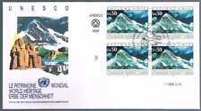 Onu Geneve Mi 210 Word Heritage Fdc Bloc De 4