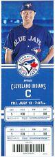 2012 Blue Jays vs Indians Ticket: Justin Masterson win/Travis Hafner HR