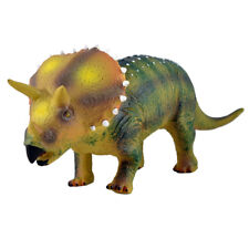 "Large 20"" 52cm Soft Stuffed Rubber Dinosaur Triceratops Play Toy Action Figure"