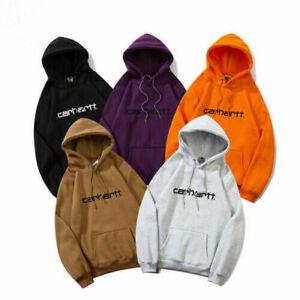 UK Carhartt Unisex Sweatshirts Tops Sport Pullover Embroidery Hoodie Sweat M-2XL
