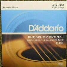 Acoustic Guitar Strings D'Addario EJ16 Light Gauge Phosphor Bronze