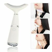 LED Vibration Face Neck Care Massager Wrinkle Removal Double Chin Remover Device
