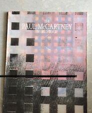 ORIGINAL Paul McCartney WORLD TOUR Book 1989/90. WHERE ON EARTH WORLD CONCERT