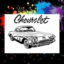 58 Chevy Corvette Airbrush Stencil,Template