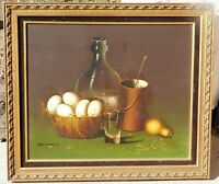Vintage oil on canvas by noted still life artist de Mazia, 20 x 24