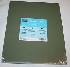 Stampin Up Retired 8.5 x 11 Card Stock 1 Pack 24 Sheets Always Artichoke 80 LB