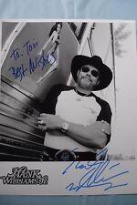 Hank Williams Jr. Autographed 8 x 10 Black & White Picture