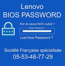 ENLEVER MOT DE PASSE BIOS ET SUPERVISEUR pour Lenovo X200