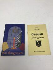 Graybar Vintage Christmas Holiday Giftlist Catalog and price list 1933 Vtg