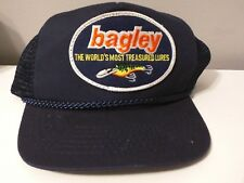 Bagley Lures Hat - World's most treasures lures, blue EUC strapback Trucker