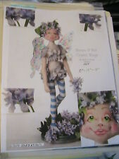"FAIRY MARAYA & her crystal wings 2008 *RARE 10"" 15"" 18""  cloth art doll pattern"