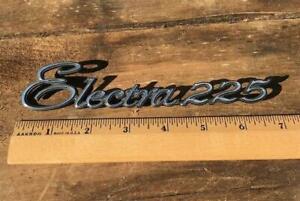 1970's Buick Electra 225 Chrome Script Emblem OEM #029