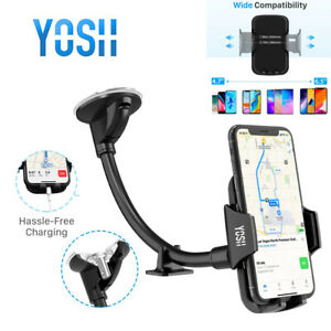 YOSH Car Phone holder 360°Rotatable Windscreen Suction Cradle For Samsung iPhone