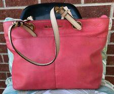 Michael Kors 30h4gbft6l Pink/Tan Pebbled Leather Tote Bag Purse