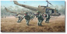 Sky Soldiers by Larry Selman - Vietnam's Ia Drang Valley - Military Art Print