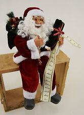 Dekobote,Deko Weihnachtsmann sitzend H 55 - 60 cm Nikolaus Santa Claus Figur rot