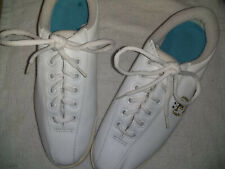 Tretorn Vintage 1990's White Classic Sneakers. Leather Upper. Size Us 8B