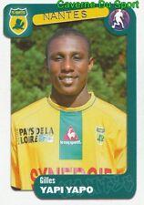 255 GILES YAPI YAPO IVORY COAST FC.NANTES FC.ZURICH STICKER FOOT 2005 PANINI
