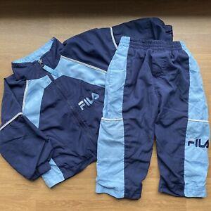 FILA Toddler Baby Unisex Athletic Sweatsuit Activewear Blue Sz 18M Vintage