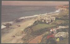 Postcard MALIBU California/CA Aerial View of Beach Front Mansion Home 1950's