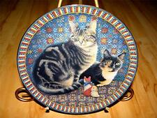 """""""Octopussy & Motley in America"""" Cats Around The World Lesley Anne Ivory Plate"""