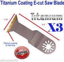 3x Titanium Oscillating Multitool Saw Blade For Dremel Multi Max Bosch Craftsman
