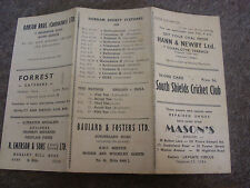SOUTH SHIELDS  v CHESTER Le STREET Cricket Club Score Card  18/05/1959