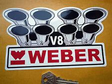WEBER V8 carburettor car stickers  suit Ferrari Ford Rover MG Maserati Lambo etc