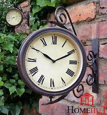 Garden Station Wall clock, Outdoors with 32cm Bracket, Swivel clock