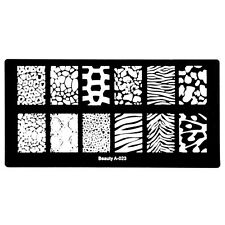 1pc Nail Art Templates Nail Stamp Image Speckle Stripe Stamping Plates DIY A-23
