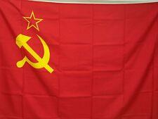 BELLISSIMA BANDIERA RUSSIA EX UNIONE SOVIETICA URSS FLAG FALCE MARTELLO 95x135