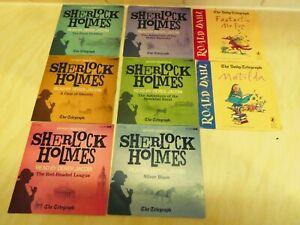 6 x audio cd stories fiction Sherlock Holmes and 2 x Roald Dahl stories