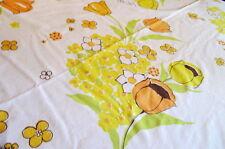Sheet Floral Muslin Twin Flat Cutter Fabric Material Flower Power Tulip Vintage