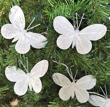 Gisela Graham White & Silver Butterfly LED Battery String Fairy Lights 165cm