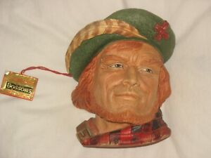VINTAGE BOSSONS ROB ROY CHALKWARE CHARACTER HEAD MADE IN ENGLAND 1995