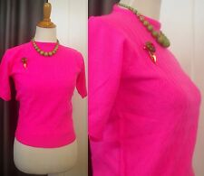 Vintage Fitted Sweater Pink Pullover Korea Talia Acrylic 34 bust Stretch S Women