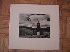 """Church at """"E"""" Town, New Mexico - EDWARD WESTON - Original vintage photogravure"""