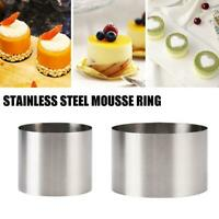 Stainless Steel Round Cake Mold Mousse Cake Cutter Ring Pastry Baking Mould